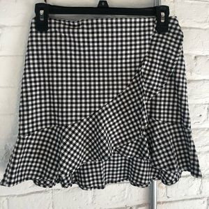 H&M gingham skirt with ruffle detail